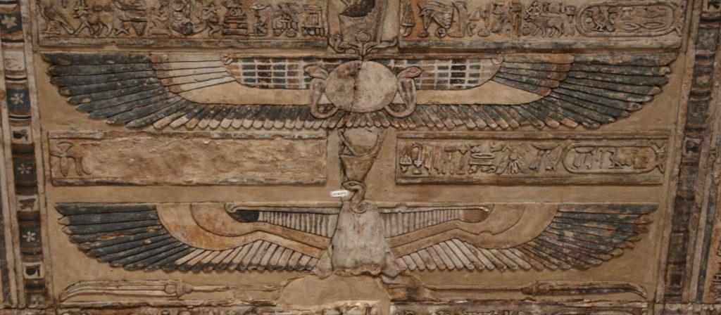 Flying home Dendara Egypt Ceiling