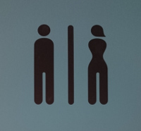 Toilet sign Faro Airport