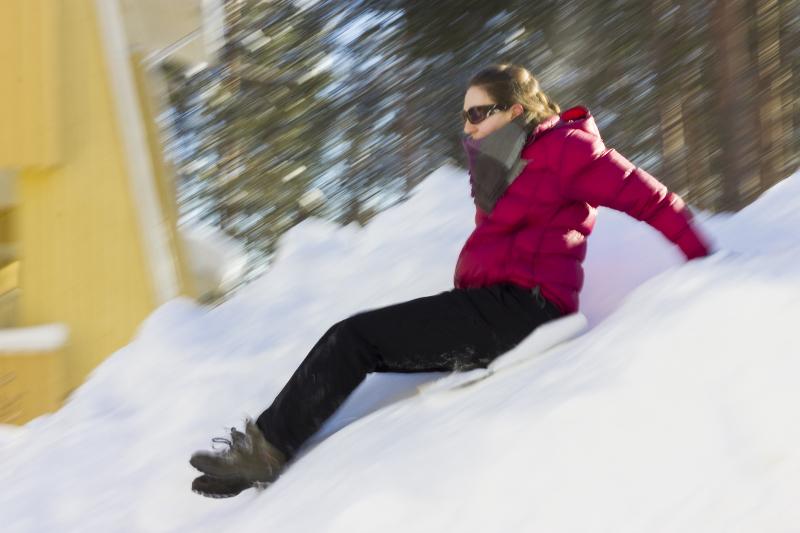 Sliding in snow